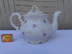 Zsolnay teás kanna - apró virágos