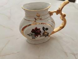 Csehszlovák porcelán kiöntő aranyozott füllel