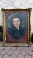 Gách István Blondel keretben festmény olaj vászon 82*62 cm