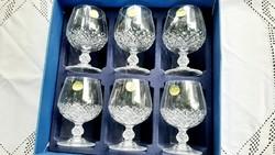 Francia kristály konyakos készlet