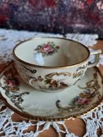 Rosenthal német vékony porcelán kávés/teás csésze aljával, XX.szd első fele, teljesen új