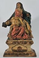 18. századi barokk pieta, fából készült szobor