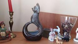 Art deco kerámia róka, szép egyedi