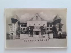 Régi képeslap 1942 Szeretetkórház Budapest levelezőlap