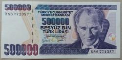 Törökország 500000 lira 1998 Aunc+