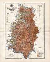 Krassó - Szörény vármegye térkép 1895 (2), lexikon melléklet, Gönczy Pál, 23 x 29 cm, megye, Posner