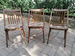 3 darab szék GÁBRIEL FRIGYES, SZKIV BUDAPEST, 1957