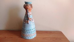 Kis Roóz Ilona 29cm figurális mécsestartó