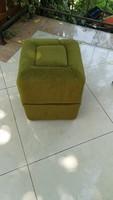 Különleges retro zöld puff