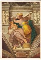 Képeslap / Michelangelo Buonarroti festménye /