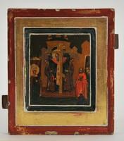 Antik orosz ikon,1800as évek a kereszt magasztalása