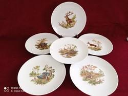 Vadász jelenetes porcelán tányér készlet 24 cm
