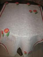 Csodaszép egyedi különleges új virágos asztalkendő / terítő