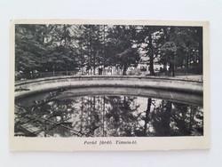 Régi képeslap 1940 Parád fürdő Timsós tó levelezőlap