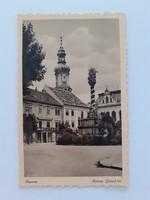 Régi képeslap Sopron Ferenc József tér levelezőlap