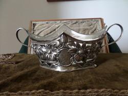 Szecessziós ezüst kínáló / asztalközép