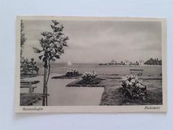 Régi képeslap 1942 Balatonboglár parkrészlet balatoni levelezőlap