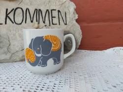 Alföldi porcelán ritkább ovis elefántos  bögre Gyönyörű Gyűjtői  nosztalgia darab