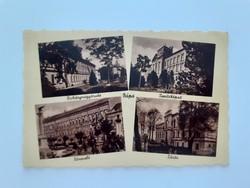 Régi képeslap 1942 Pápa Dohánynagyáruda Tanítóképző Nőnevelő Zárda levelezőlap
