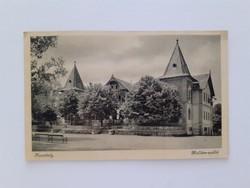 Régi képeslap 1947 Keszthely Hullám szálló levelezőlap