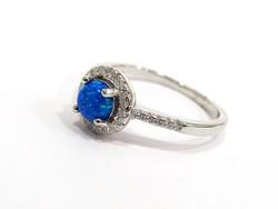 Opál köves ezüst gyűrű (KECS-Ag95128)
