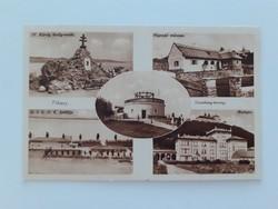 Régi képeslap 1942 Tihany Néprajzi múzeum Visszhang-tororny balatoni levelezőlap