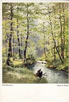Képeslap / JOSEF SÜSSMAYR festménye /