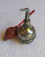 Antik fém parfümszóró, pipere kellék