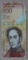 Venezuela 100 bolivares 2015 Unc