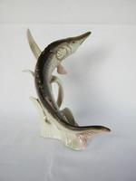 Royal Dux  porcelán hal csuka