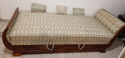 Biedermeier szófa, sofa, ágy, kanapé 3 db díszpárnával