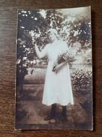 Régi női fotó vintage Simonyi Lajos Szeged fénykép