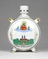 1F072 Régi Máriagyűd díszes Zsolnay porcelán kulacs 11 cm