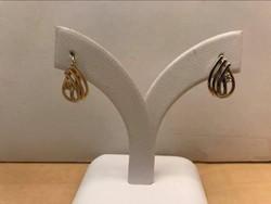 Női 15 kt. sárga fehér fülbavaló