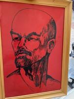 Szocreál Lenin portré 75'
