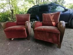 2 darab art deco fotel csodaszép ivek,kecses forma 40ezer a kettő együtt
