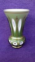 BOHEMIA hántolt üveg váza