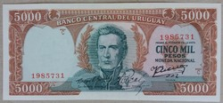 Uruguay 5000 pesos 1967 UNC