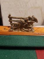 Pazar régi réz lovas levéltartó