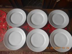 Antik Zsolnay lapos tányér 6 db