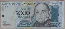 Venezuela 2000 bolivares 1998 Unc