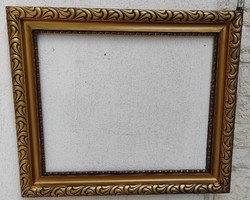 Gyönyörű antik aranyozott széles keret,jó méretű festmény tükör keret képkeret.50 X 60 cm kép mérete