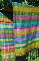 Crazy Sunday - EGYEDI Könnyű vidám sál - handmade unique scarf