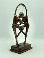 Gyönyörű ART DECO bronz szobor- 38 cm-es