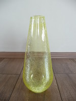 Karcagi sárga fáyolüveg váza