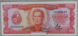 Uruguay 100 pesos 1967 XF+