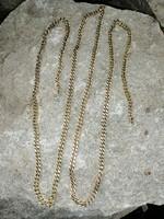 104 cm aranyozott ezüst vastag lánc