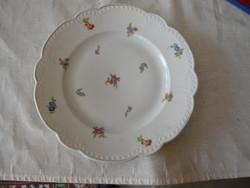 Apró virágmintás Zsolnay porcelán tényér