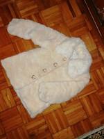 Gyermek kislány női szőrmés kabát eladó ! 3-7 éves !
