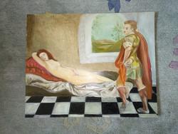 Olajfestmény,  nagy festők műveinek kreatív újragondolása